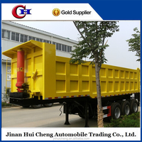 Special container transporter step wise tipper dump trailer in truck for sale