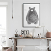 Pencil Drawing Style Bear Animal Oil Painting Canvas Art