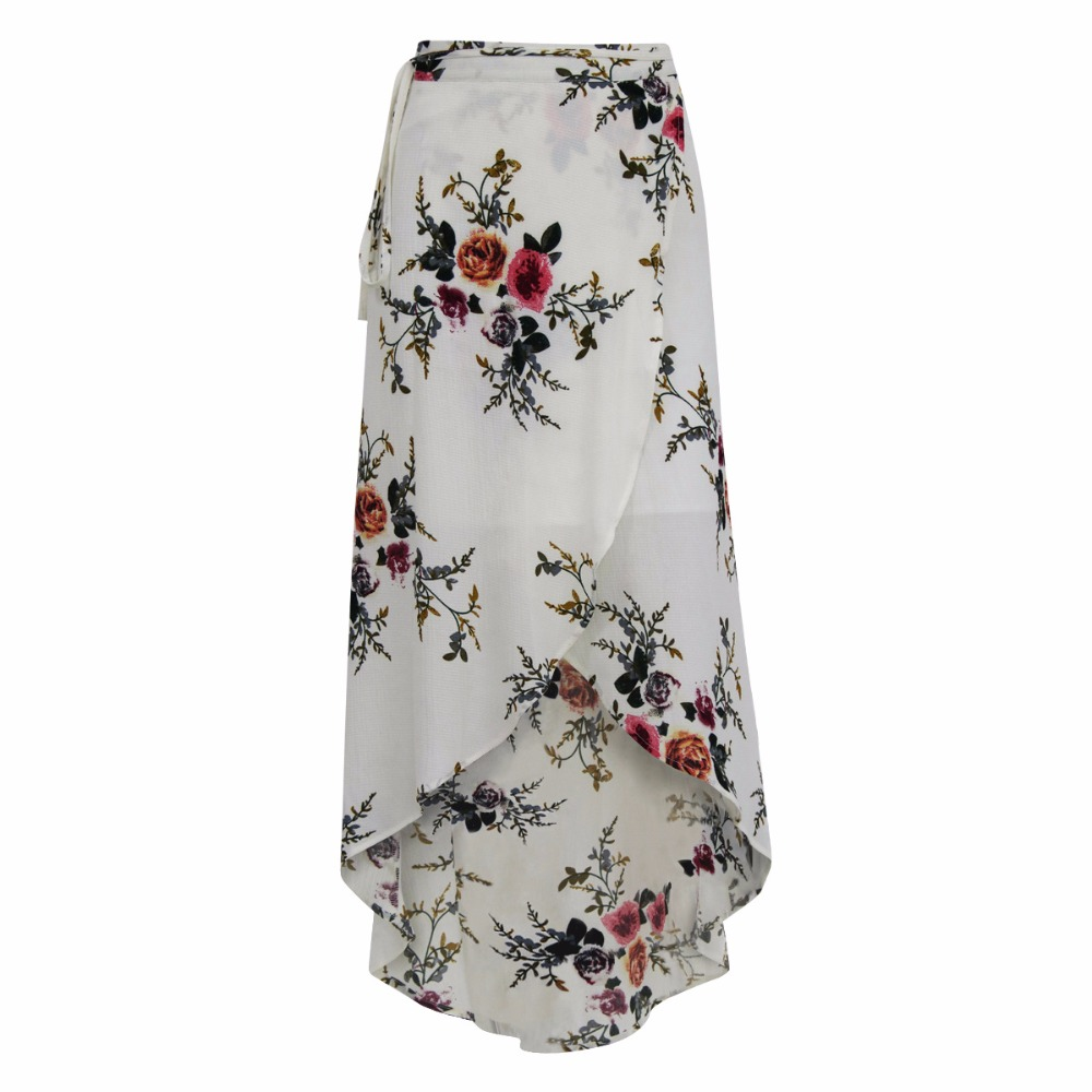 2017 European and American women's irregular digital print skirts