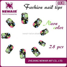 Hot sale special print design picture beauty nail arts design artificial flowers nail art