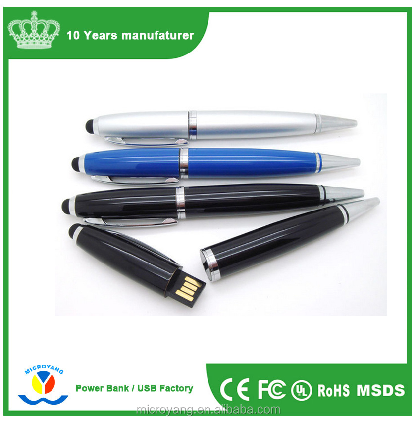Promotional custom logo 4gb 8gb 16gb 32gb usb ballpoint pen metal usb pen