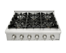 Heavy duty kitchen gas stove/gas cooker stove/gas cooking stove with grill top