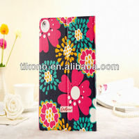 Colorful flower wallet skin for ipad air ipad 5,good quality case for ipad 5