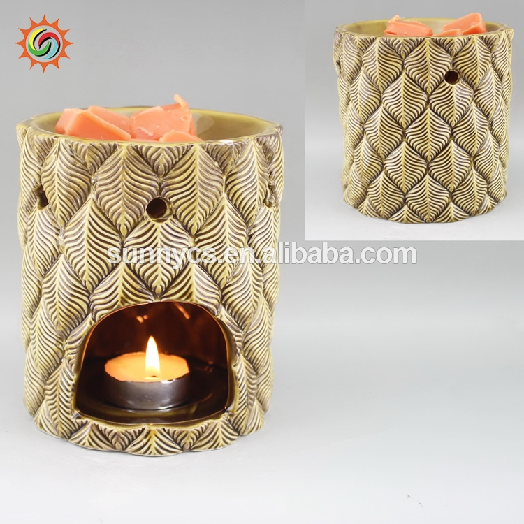 Hot sale aroma melts candle oil burner fragrance lamps ceramic wax warmer