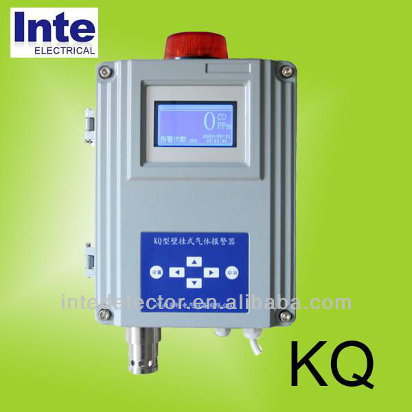 industrial usage oxygen O2 gas detector with sound and light alarm