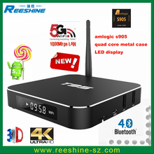 hot sell 4gb ram 16gb rom android tv box T95 metal case cheapest android tv box T95 international satellite tv receiver