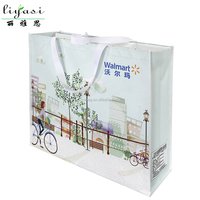 Handled Style recycled non-woven shopping bag Gift Tote