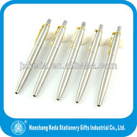 high quality hot selling silver body gold clip parker Jotter click pen