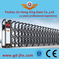 government automatic Electric Collapsible sliding entrance mail Gate design JHX208 Details
