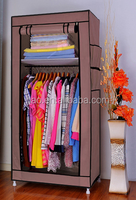 Small simple T style non-woven fabric wardrobe veneer