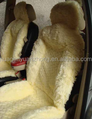 Free sample offered sheep wool car seat cover