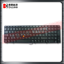 Original New Laptop Keyboard for HP 8560W 8570W 8770W SP/RU/UK Layout Replacement