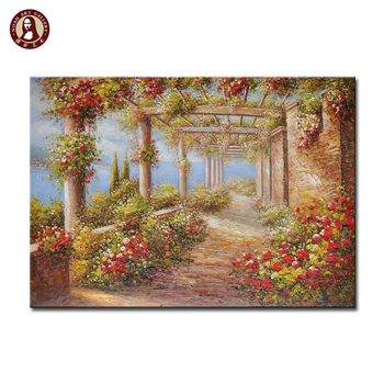 Decorative wall art hand painted scenery oil painting artwork for sale