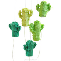 Mini cactus pinata ornaments, birthday pinata