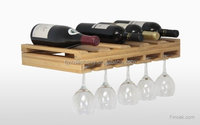 100% Natural Bamboo Wooden Wall Wine Bottle Glass Rack Holder
