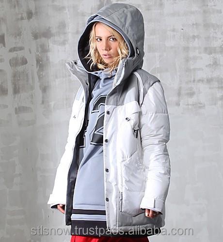 2014/2015 High quality Unisex warm Ski Snowboard jacket, Indi Jacket White