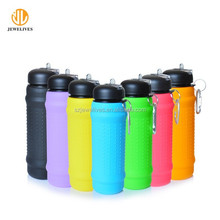Latest Promotional Logo Custom Silicone Water Bottle For Sports Running &Cycling