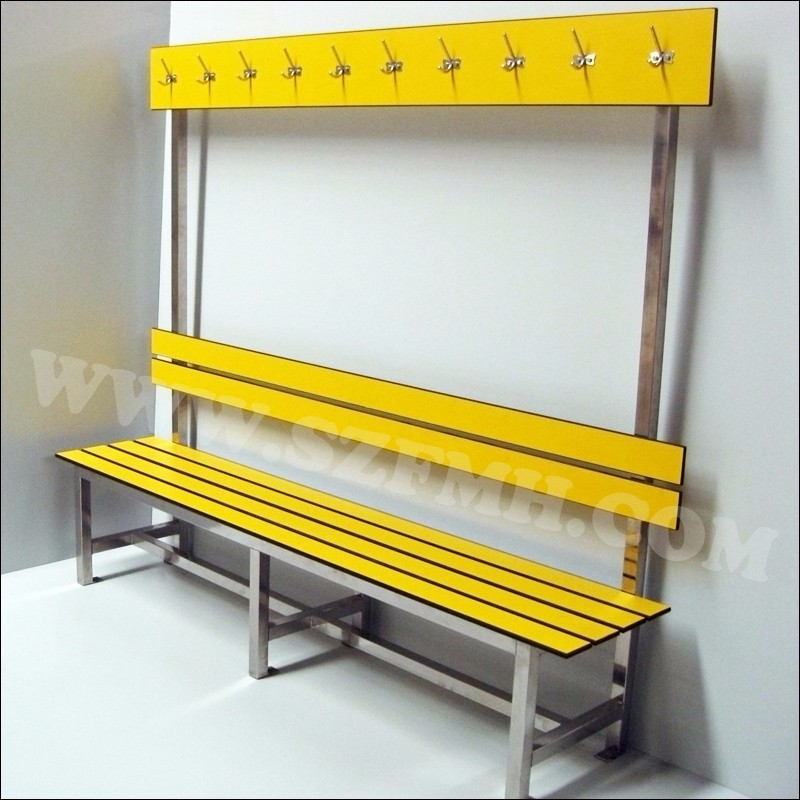 Outdoor waterproof hpl changing room bench
