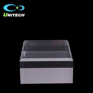 High Quality Clear Engraved Acrylic Sheet Cube Block For Logo Display