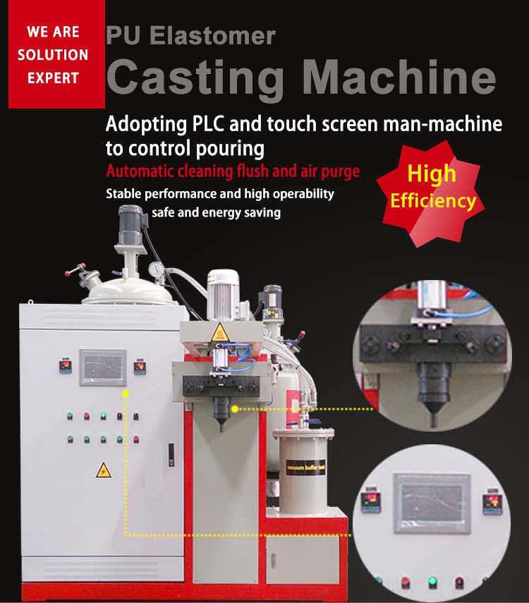 medium temperature elastomer casting machine