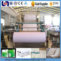 2880mm writing paper making machine copy paper machine raw material : waste paper ,virgin pulp, bamboo