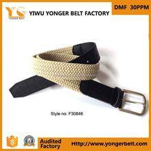 2014 Western Style Fabric Tape Strape Pin Buckle Weave Braided Belt For MAN