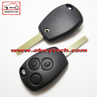 Okeytech Renault Car Key for romote key 3 button key shell no logo with 307 blank Renault remote key case