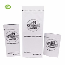 Custom Printed Aluminum Flat Bottom Packaging Kraft Paper Coffee Bag With Zip