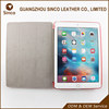 Dormancy smart three folding tablet case for pu ipad case 9.7 with PC back cover