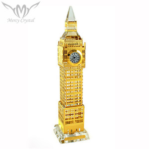 Big Ben Design Crystal London Clock For UK Travel souvenirs