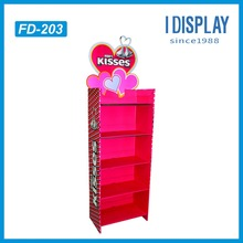 Eco-friendly floor cardboard display stand for candy promotion