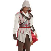 2015 Custom Made Hot Sale Assassin's Creed Grey Altair Movie Game Cosplay Costume Men Game Cosplay Costume Assassin's Creed 006