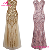 Sexy Vintage Sequins Mermaid Evening Wedding Bridesmaid Woman Dress