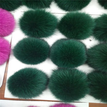 Real Fox Fur Ball Using for Fur Pendant Key chains Clothing Accessories