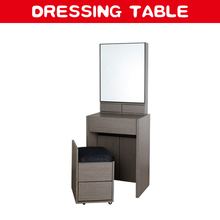 Modern corner makeup wooden dressing table with mirror cabinet
