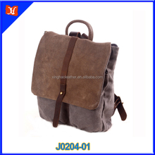 Bulk buy from China Vintage Canvas Leather Messenger Bag