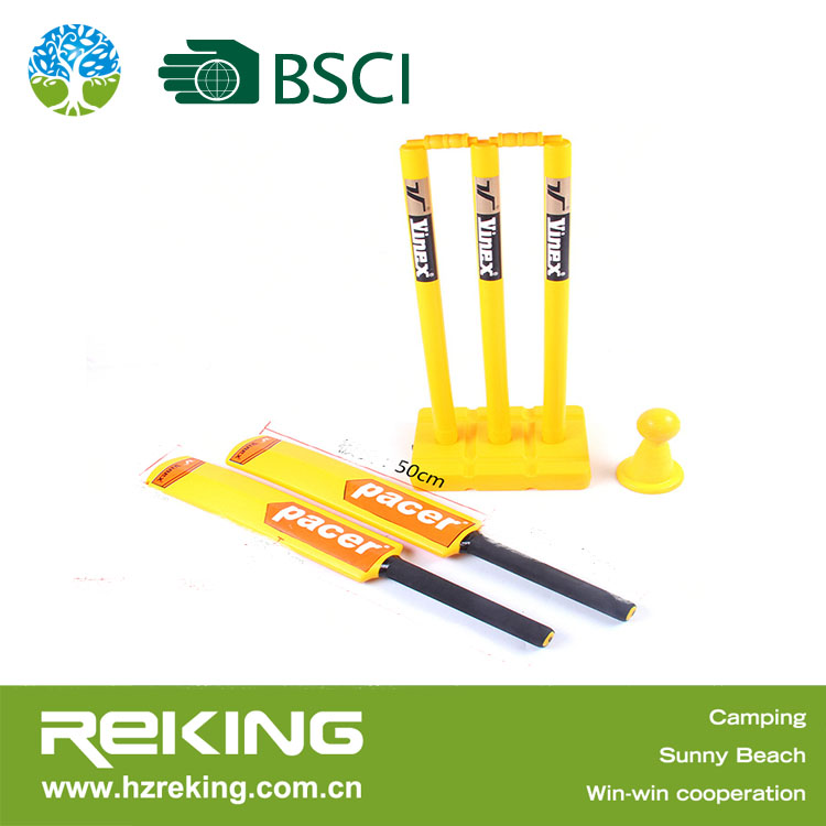 Child Toy Plastic Cricket Bat with Stand for Promotion