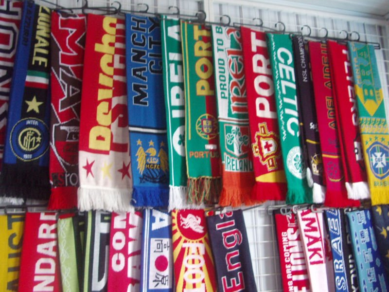 Knitted Football Fan Scarf,Knitted Soccer Fan Scarf,Knitted Sport Fan Scarf