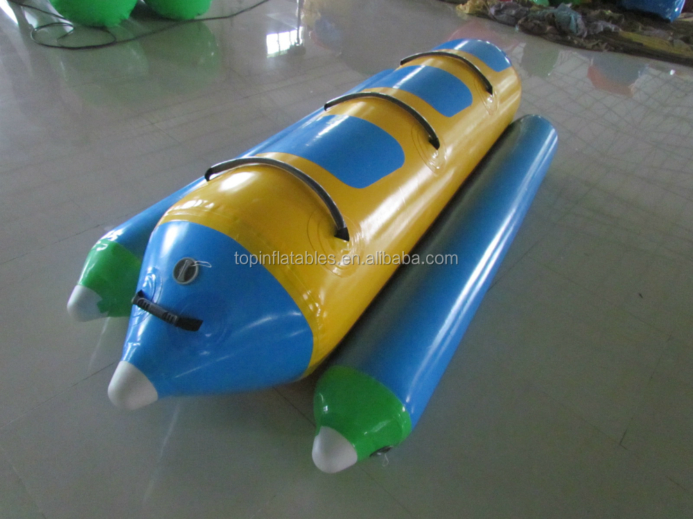 hot sale inflatable flying banana aqua surfing boat price