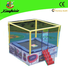 mini square trampoline with handle for kids
