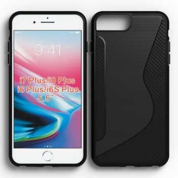 NS design mobile phone case for Iphone 8 7 plus 6S plus tpu brushed metal housing cases