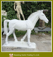 white marble eight horses stone statue