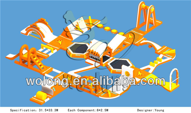 Best quality customized inflatable water park for sale, large inflatable water floats