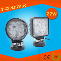 China wholesale 4x4 offroad 27w led work light 12v led work light with magnet base