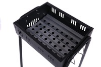 Cold Rolled Steel 10.5mm with HTP Finish Square Black bbq charcoal grill