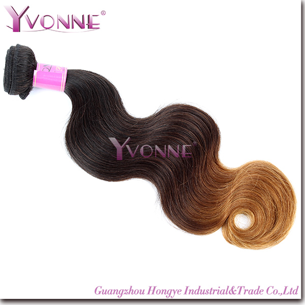 Cheap 100% Human Remy Peruvian Ombre Hair Weave