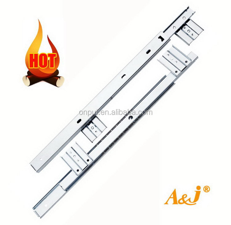Hot sale 42mm Full extension bearing slide telescopic drawer slide