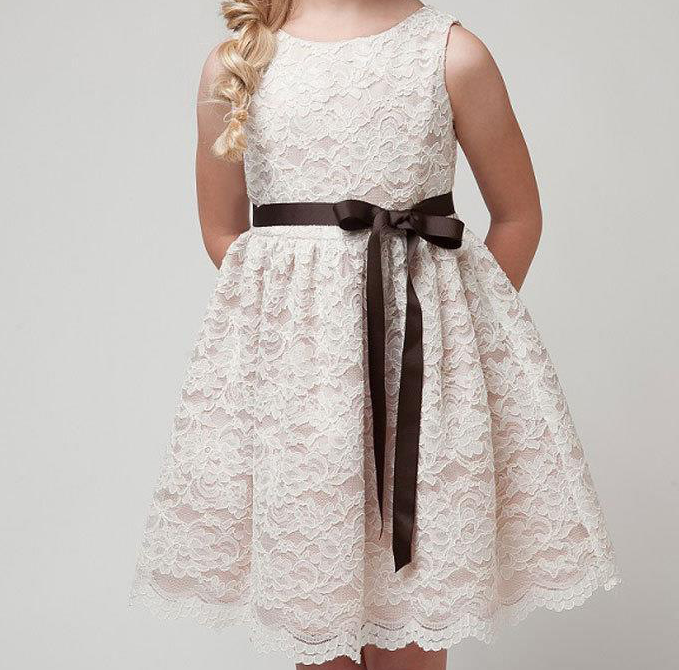 Flower girl dress patterns baby doll dress new style kids for Baby doll style wedding dress