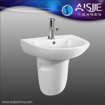D604B White Color Bathroom Sanitaryware Ceramic Model Wash Wall Hung Hotel Basin