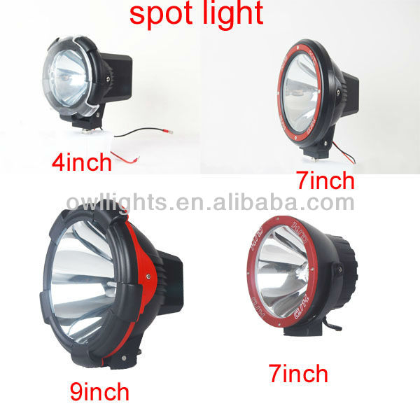 high power 9inch 75w hid off road driving light, 75w hid spot light for truck